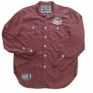 Walt Disney World Mens M Button Shirt Authentic 71